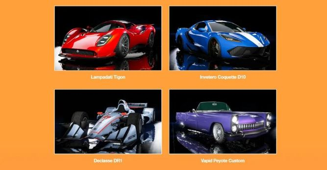 gta online cars